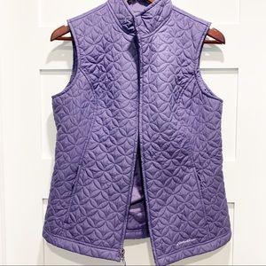🛍 EDDIE BAUER Quilted Purple Vest
